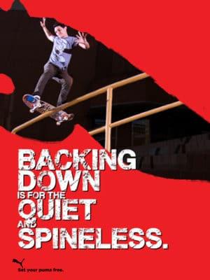Puma skate ads backing down