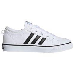 Chaussures Adidas Nizza blanches et noir Homme-Femme-enfant
