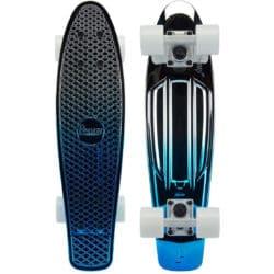 """Skateboard Cruiser Penny Australia Blue Silver Metallic Fade 22"""""""