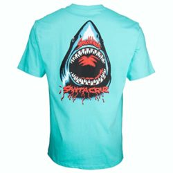 T-Shirt Santa Cruz Speed Wheels Shark Pacific Blue back