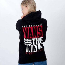 Sweatshirt à capuche Vans New Stax noir back