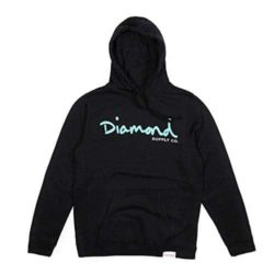 Sweatshirt à capuche Diamond Supply Co. Script Hoodie noir