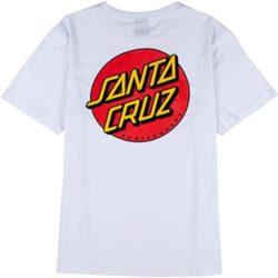 T-Shirt Santa Cruz Classic Dot Blanc pour Femme dos