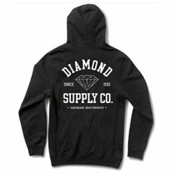 Sweat à capuche Noir Diamond Supply Co. Athletic Hoodie Black back