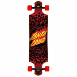 Longboard complet Santa Cruz Flame Dot Factory Drop Down 40""