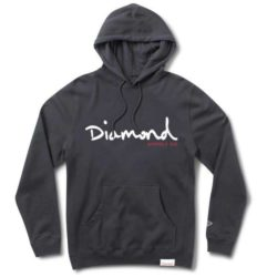 Sweat à capuche Diamond Supply Co. OG Script Hoodie Navy (bleu marine)