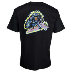T-Shirt Santa Cruz Cosmic cat strip noir