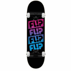 Skateboard Flip PTeam Quattro Faded Black deck 8.0""