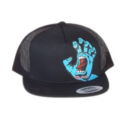Casquette Santa Cruz Screaming Hand (main bleue) Noire