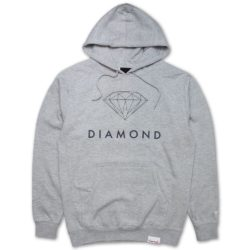 Sweat-shirt à capuche Diamond Supply Co. Futura Sign Hoodie Grey (gris)