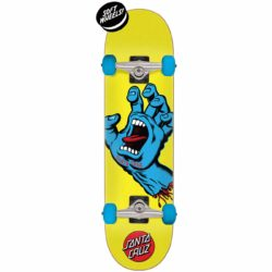 Skateboard complet Santa Cruz Screaming Hand main bleue 7.75″