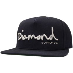 Casquette Snapback Diamond Supply Co. OG Script Navy