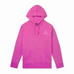 Sweat à capuche HUF Essentials Triple Triangle rose (Hot Pink)