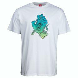 T-Shirt Santa Cruz Bio Hand Blanc