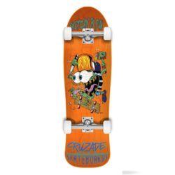 Skateboard complet Cruzade Sketchy is Fun Orange 9.0″