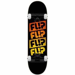 """Skateboard complet Flip Team Quattro Faded Blacker 8.25"""""""