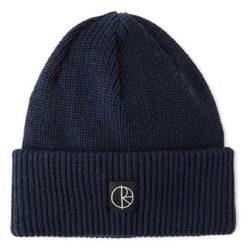 Bonnet Polar Skate Co double pli en laine mérinos Bleu marine