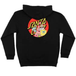 Sweat shirt à capuche Santa Cruz Bob l'Eponge NOIR HOODIE