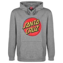 Sweat shirt à capuche Santa Cruz Classic Dot Gris