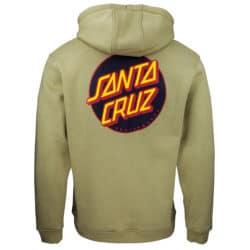 Sweat shirt à capuche Santa Cruz Other Dot vert dos