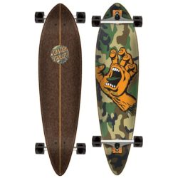 Longboard Santa Cruz Screaming Hand Camo shape