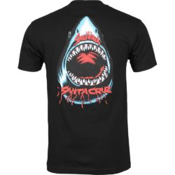 T-Shirt Santa Cruz Speed Wheels Shark noir dos