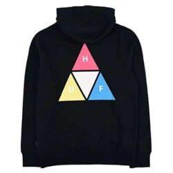 Sweat à capuche HUF Prism Trail couleur noir back