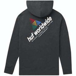Sweat à capuche HUF Peak Sportif hoodie noir back
