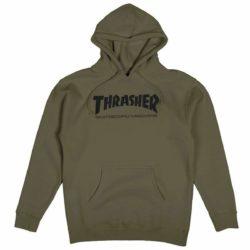 Sweat-shirt à capuche Thrasher vert
