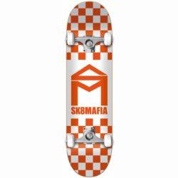 "Skateboard complet Sk8Mafia House Logo Checker Orange 8.0"""