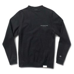 Sweat-shirt Diamond Supply Co. Stone Cut Crewneck Black (Noir)