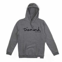Sweat à capuche Diamond Supply Co. OG Script Core Hoodie Gunmetal