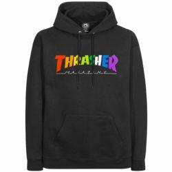 Sweat à capuche Thrasher Rainbow logo Hoodie noir
