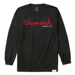 T-shirt manches longues Diamond Supply Co. OG Script Noir