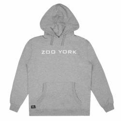 Sweat Capuche Zoo York Bank Logo gris