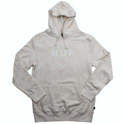 HUF Essential OG Logo Hoodie Gris (Unbleached)