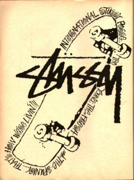 Stussy skateboard ads 80's