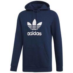 Sweat-Shirt à capuche Adidas Trefoil bleu marine