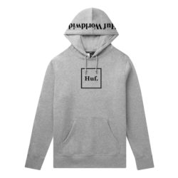 Sweat à capuche HUF Box Logo P/O Hoodie gris (Grey Heather)