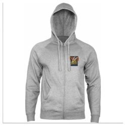 Veste Sweat Zippée Powell-Peralta Zip Cab Street Dragon Gunmetal Heather devant