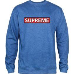 Sweat-shirt Powell Peralta Supreme couleur Royal Heather (bleu)