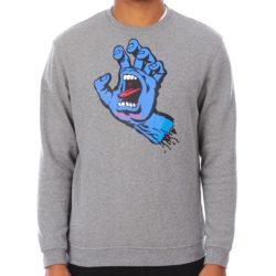 Pull Santa Cruz Screaming Hand (main bleue) Gris