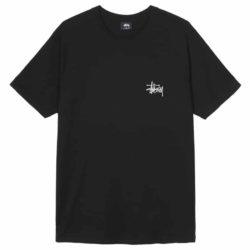 T-Shirt Stussy Basic Tee Noir