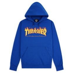 sweat capuche Thrasher Flame Logo Hoodie Bleu Royal
