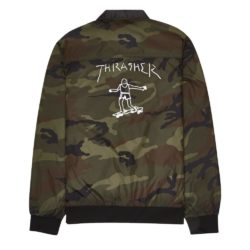 Veste reversible Thrasher Gonz Reversible Coach Jacket Noir-Camouflage back