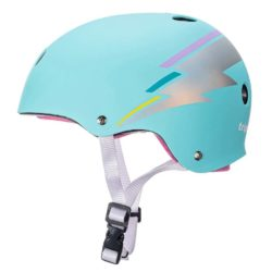 Casque de Skateboard Triple 8 Brainsaver Sweatsaver Certified Pastel Teal Hologram