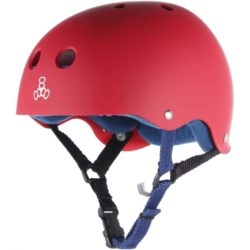 Casque Triple 8 brainsaver Sweatsaver United Red Rubber rouge