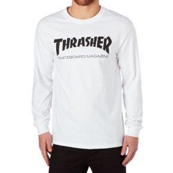 T-shirt Thrasher à manches longues blanc
