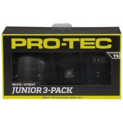 pack de Protections skateboard Pro Tec Street Gear noir pour Enfant