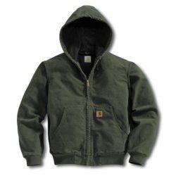 Veste Carhartt Duck Active Jacket verte pour Homme